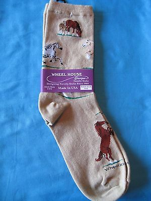 Wild Horses Tan Size Medium by Wheelhouse Design NWT