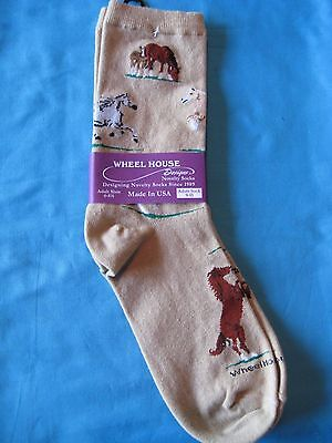Wild Horses Tan Size Large by Wheelhouse Design NWT