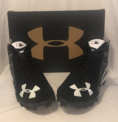 UNDER ARMOUR Youth Size 5.5 Baseball Cleats Leadoff Mid RM Jr. Boys Girls
