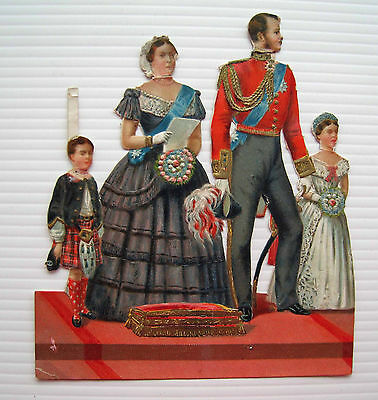 Large Victorian Scrap - Queen Victoria & Prince Albert with Son & Daughter*