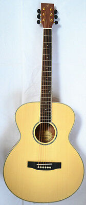 """Acoustic Guitar 41"""" Inch, Solid Wood Top, Peal Inlay With Capo And Strap"""