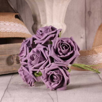 Foam Rose Bunch 5 - 6 Cm 26 Colours Wedding Bouquet Decor Centrepieces