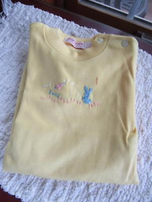 NWT Health-Tex Vintage 1960s Child's 1pc Cotton ROMPER Snap Crotch BUNNY 18mos