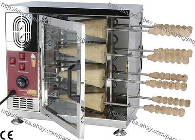 Electric Ice Cream Cone Kurtos Kalacs Conical Chimney Cake Roll Grill Oven