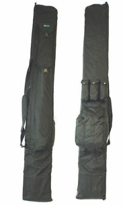 Q-Dos Deluxe Padded 3 Plus 3 Rod Holdall 205cm Carp Fishing Rod Bag Takes 6 Rods