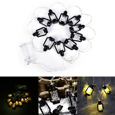 10 Lantern Shape Battery Operated 1M LED Fairy Lights String  outdoor Wedding SK