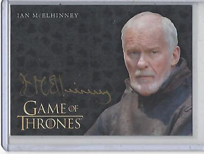 Game of Thrones Valyrian Steel Ian McElhinney GOLD autograph