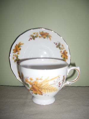 Vintage Queen Anne Bone China Cup & Saucer  Ridgway Potters  Made in England