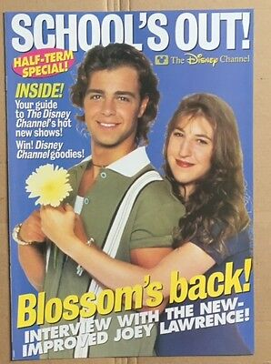 JOEY LAWRENCE / BLOSSOM / DISNEY CHANNEL Original Vintage Promotional Pullout