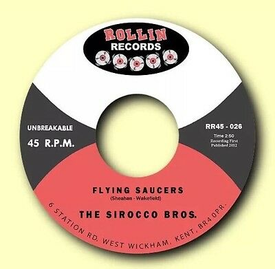 """Sirocco Brothers Flying Saucers/Stomp 7"""" 45 Vinyl Rockabilly Single"""