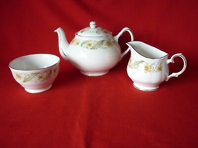 Duchess Greensleeves Bone China Teapot Milk Jug & Sugar Bowl