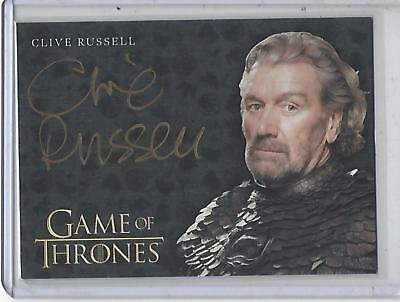 Game of Thrones Valyrian Steel Clive Russell GOLD autograph