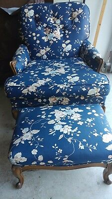 French Provincial Style Chair & Ottoman  -  Re-Production