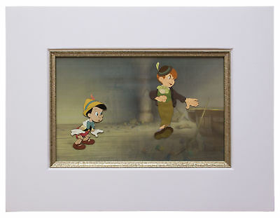 Large Disney Pinocchio Cels of Pinocchio and Lampwick