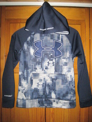 Under Armour Storm Cold Gear hoodie sweatshirt kids boys YMD M blue running gym