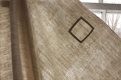 Antique French linen sheet old linen 86X78 REPAIRS curtain  fabric 18th TIMEWORN