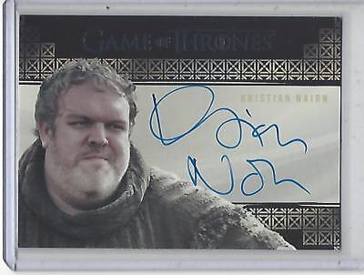 Game of Thrones Valyrian Steel Kristian Nairn VALYRIAN autograph