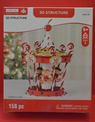 Christmas Noel 3D Structure  Craft 158pc Merry Go Round by Creatology New