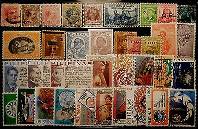 (H226) Philippines Spanish, American, Japanese & Republic stamps used/some mint