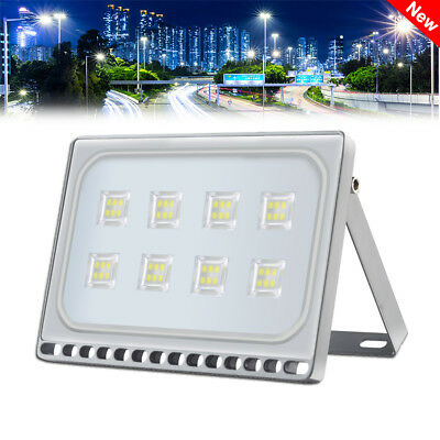 50W LED Floodlight Cool White Outside Exterior Wall Security Flood Light IP65 UK