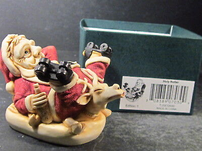 Harmony Kingdom HOLY ROLLER Santa On Roller Skates TJSESA99 w/ Box