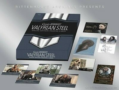 Game of Thrones Valyrian Steel 73 VALYRIAN / GOLD / DUAL autograph set