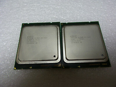 Matched pair (2) Intel Xeon E5-2667 SR0KP Processor V1 2.9Ghz hex core