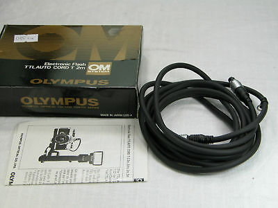 BOXED Olympus OM System Flash TTL Auto Cord T 2m for SLR Genuine Zuiko MINT