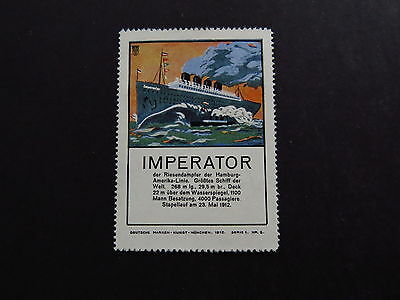 Stamp Briefmarke Cinderella Germany Marken Kunst Imperator Riesendampfer HAL