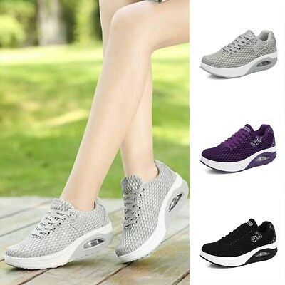 New Women Wedge Sneakers Durable Platform Shoes Comfortable Sport Casual Shoes