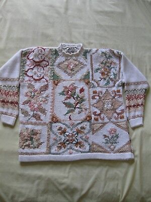 Heirloom Collectibles Pullover Sweater Size L (made of Cotton/Ramie)