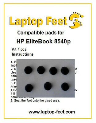 Laptop Feet for HP Elitebook 8540p/w compatible kit (7 pcs self adhesive by 3M)