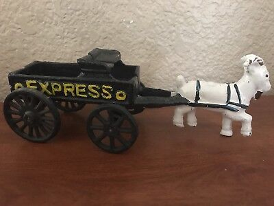 Handpainted Pony Express Horse And Wagon Reproduction