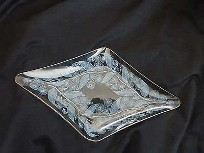 Chance Glass Calypto Pattern Diamond Shaped Dish