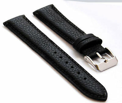 Büffel optik  Leder Uhrenarmband 18 20 22 24mm schwarz watch strap