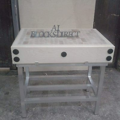 Butchers Block 3ft by 2ft with a stand