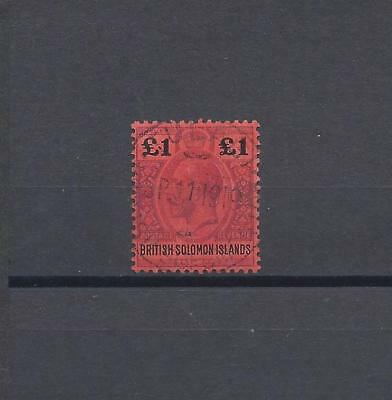 BRITISH SOLOMON ISLANDS 1914-23 SG 38 USED Cat £120
