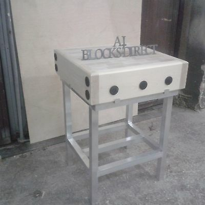 Butchers Block 2ft by 2ft with a stand