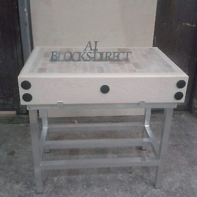 Butchers Block 4ft by 2ft with stand