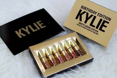 6 Pcs Birthday Editions Kylie Matte Liquid Lipstick