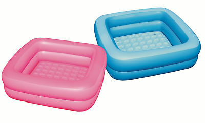 Bestway Baby Bath Tub Inflatable Indoor Paddling Pool Shower Blue Pink **new**
