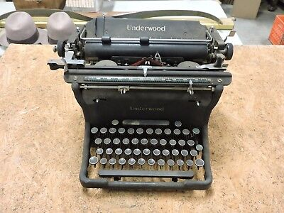 Antique Underwood Metal Typewriter, Elliot Fisher, Used, 1923, Champion, (VAX)