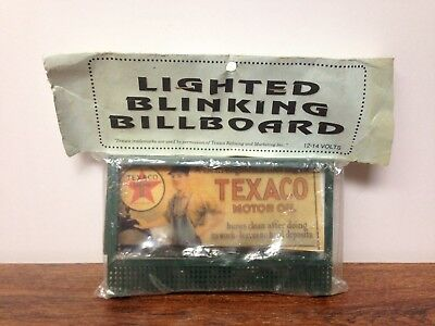 New Vintage Lighted Blinking Mini Billboard Sign Texaco Town & Country Crafts