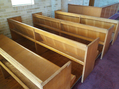 Church Pews - 1960s era Rolled Plywood - 17 available in various lengths