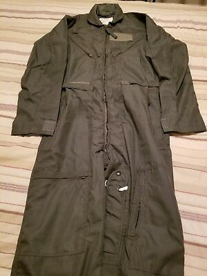 Flyer's Nomex Coverall Sage Green CWU 27P FR Flight suit Genuine Issue New 40L