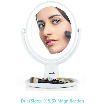 Easehold Double Sided LED Cosmetic Stand Makeup Mirror 1X /5X Magnification【AU】