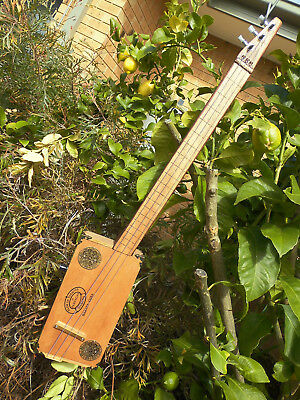 "Cigar Box Guitar A ""Quirky"" 3 string fretless Blues Machine by Jandyb FREE POST"