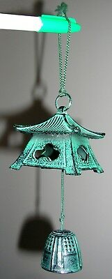 Rare Design New - Japanese Chinese Asian Cast Iron Wind Chime Bell
