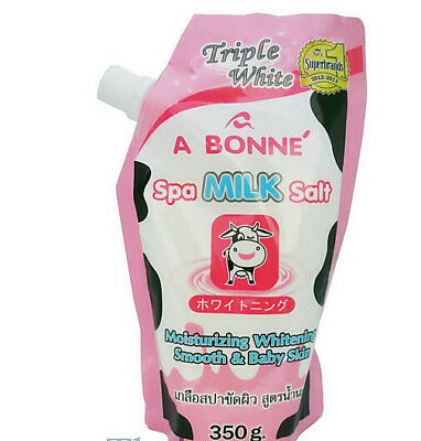 A Bonne Spa Milk Salt Smoothen Whitening Skin Moisturizing 350g