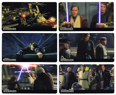 2015 Topps Star Wars Revenge of the Sith 3D 44 Card Widevision Set in Vader Box